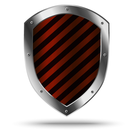 Illustration for Classic metal shield. Protection or hazard symbol. - Royalty Free Image