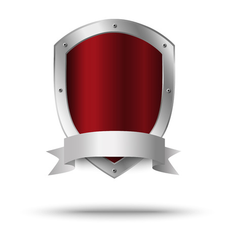 Illustration for Metal shield. Protection or victor's symbol. - Royalty Free Image