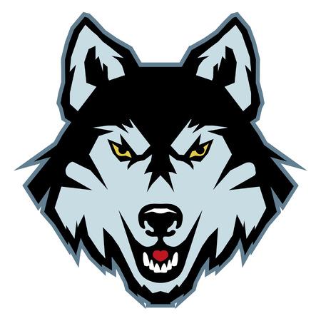 Illustration pour A Wolf logo. isolated on plain background - image libre de droit