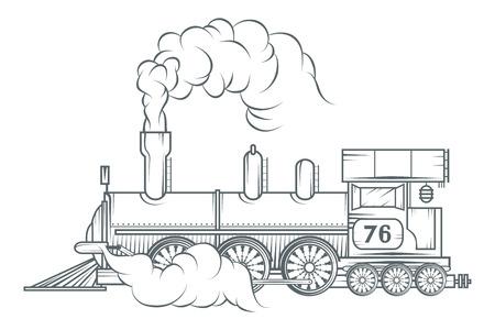 Illustration pour Old train vector graphic design. - image libre de droit