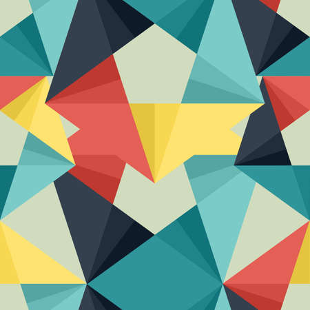 Ilustración de Seamless abstract colorful background made of triangle pattern - Imagen libre de derechos