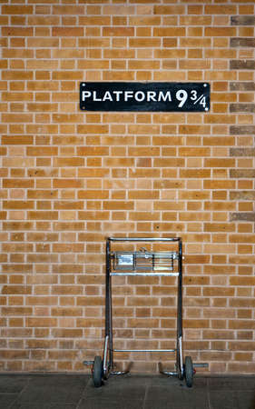 Photo for Platform 9 34 & Trolley - Royalty Free Image