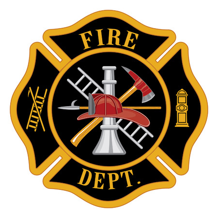 Illustration pour Fire department or firefighters Maltese cross symbol illustration  - image libre de droit