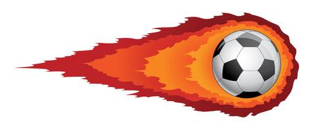 Ilustración de Soccer Ball With Flames is an illustration of a soccer ball or football with flames or fire trailing behind it  Reminiscent of a comet  - Imagen libre de derechos