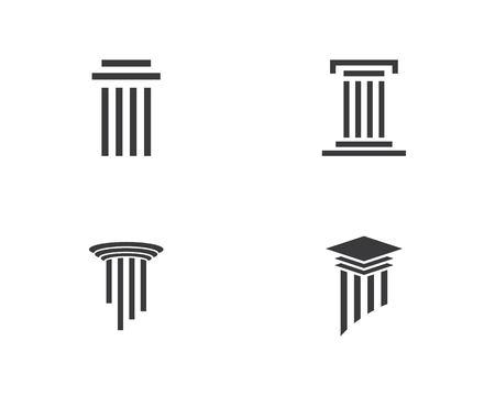 Illustration pour law logo vector icon template - image libre de droit