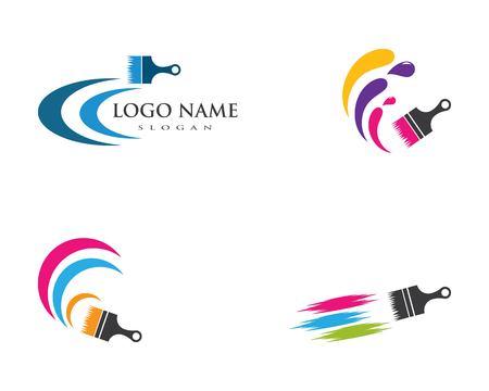 Ilustración de paint logo business vector icon template - Imagen libre de derechos