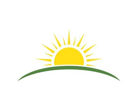 Ilustración de sun ilustration logo vector icon template - Imagen libre de derechos