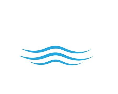 Ilustración de Water Wave symbol and icon Logo Template vector - Imagen libre de derechos