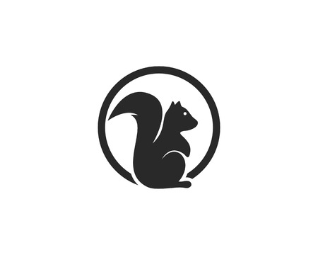 Illustration pour squirrel logo vector icon - image libre de droit