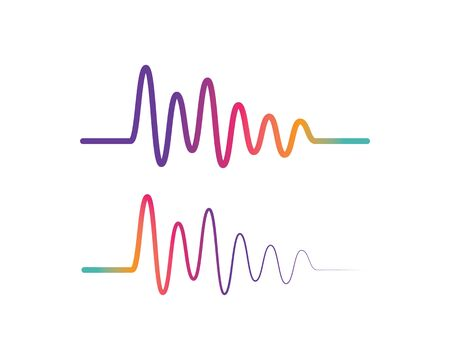 Ilustración de Pulse line ilustration logo vector icon template - Imagen libre de derechos