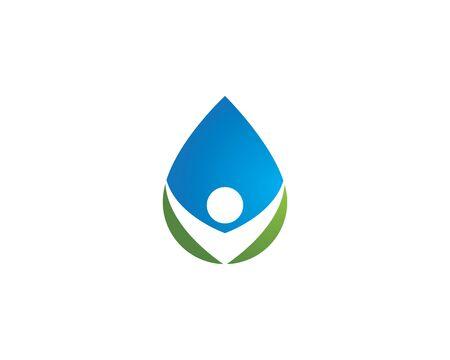 Ilustración de water drop Logo Template vector illustration design - Imagen libre de derechos