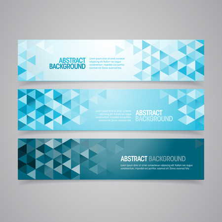 Illustration pour A set of vector geometric banner design that can be used in cover design, website background or advertising  - image libre de droit