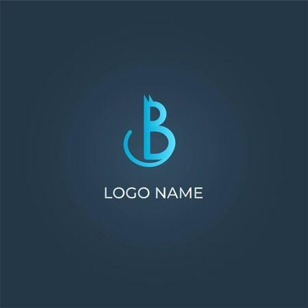 Illustrazione per Letter B cat logo isolated - Immagini Royalty Free