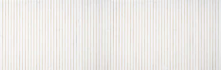 Photo for white wood wall paneling background - extra wide banner format - Royalty Free Image
