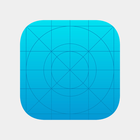 Illustration pour Template icon with the guide. Vector layout for the development of application icons. Blank application icon for web and mobile systems. Isolated blank template app icons. - image libre de droit