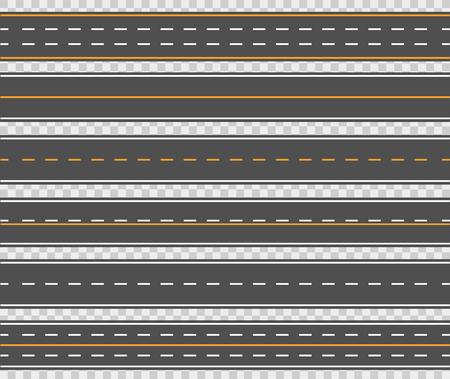 Illustration pour Horizontal asphalt roads design - image libre de droit