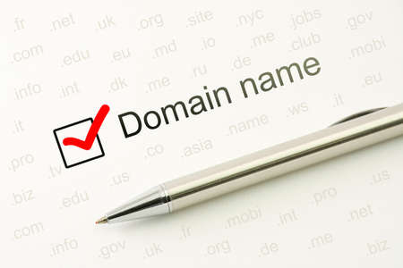 Photo for Domain name choice concept, web site naming. WWW unique registration address. Host identifier - Royalty Free Image