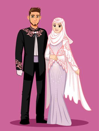 Photo pour Pink Purple Muslim Wedding - image libre de droit