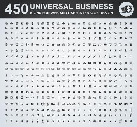 Illustration pour Business icon set for web and user interface - image libre de droit