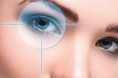 Foto de Close up of female eyes. Eyesight concept - Imagen libre de derechos