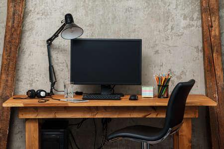 Foto de Modern workplace with computer - Imagen libre de derechos