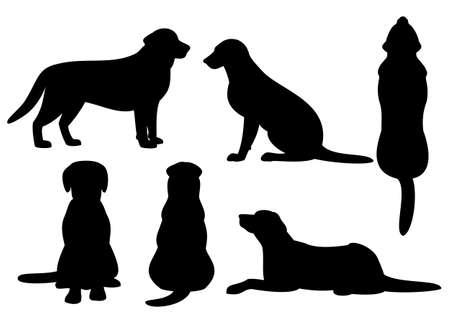 Illustration pour dog silhouette set - image libre de droit