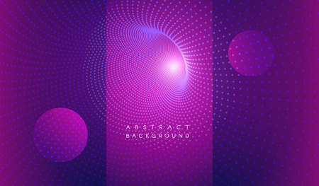 Illustration pour Vector abstract futuristic aesthetic background. Digital time funnel. Spatial-time continuum concept. Colorful blue magenta backdrop - image libre de droit
