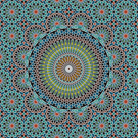 Illustration for Traditional Morocco Pattern - Royalty Free Image