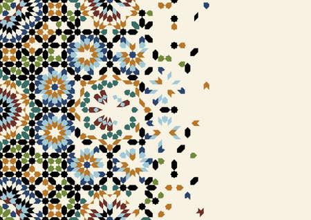 Illustration pour Page Design Template with Morocco Ornament - image libre de droit