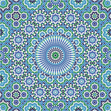 Illustration for Morocco Seamless Pattern. Traditional Arabic Islamic Background. Mosque decoration element. - Royalty Free Image