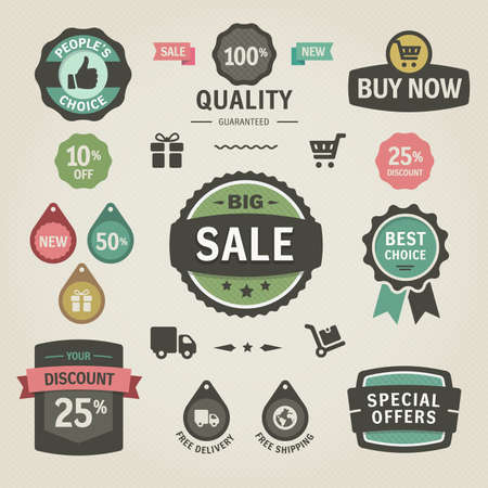 Illustration for  Set of stickers, labels, tags and icons. Solid colors. Set of stickers, labels, tags and icons. Solid colors.  - Royalty Free Image