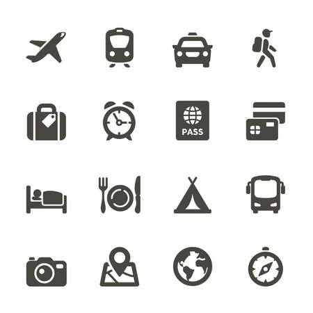 Ilustración de Traveling and transport icons for Web and Mobile App  Rounded - Imagen libre de derechos