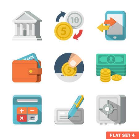 Illustration pour Money Flat icons for Web and Mobile Application. - image libre de droit