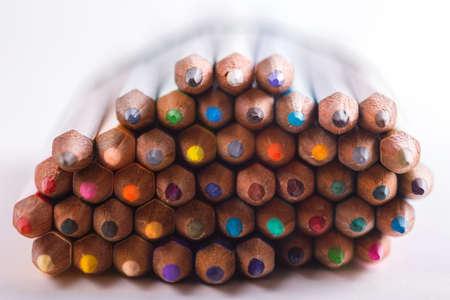 Photo pour background made of macro shoot of colorful pencils  - image libre de droit