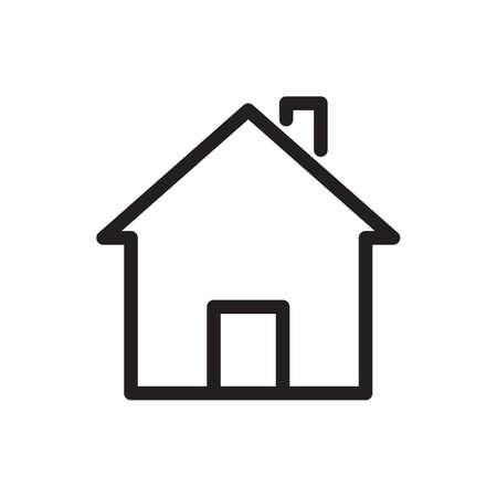 Ilustración de House icon, buildings icon. Outline bold, thick line style, 4px strokes rounder edges. Vector illustration - Imagen libre de derechos