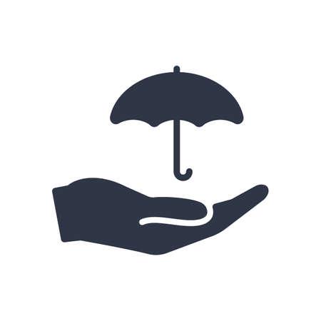 Ilustración de Protection service - Minimal vector icon. Vector illustration - Imagen libre de derechos