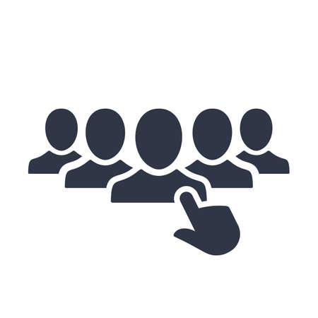 Illustration pour Recruitment icon. Vector illustration - image libre de droit