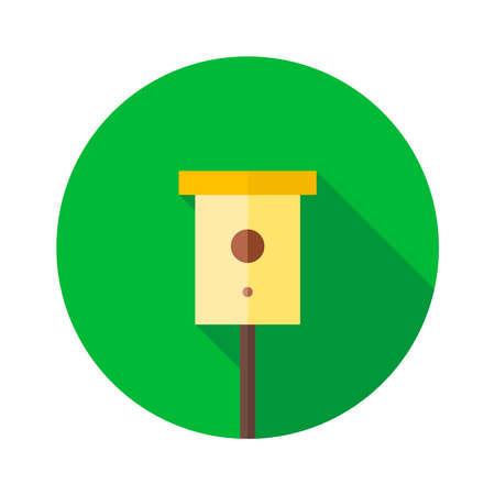Ilustración de Bird Nesting box. Birdhouse vector illustration - Imagen libre de derechos