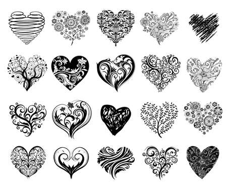 Illustration for Tattoo hearts. - Royalty Free Image