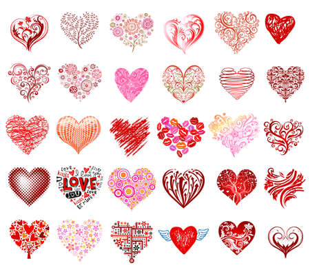 Illustration for Vector hearts - Royalty Free Image