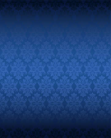 Illustration for Luxury seamless blue floral wallpaper - Royalty Free Image