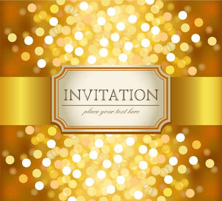 Illustration for Golden invitation - Royalty Free Image