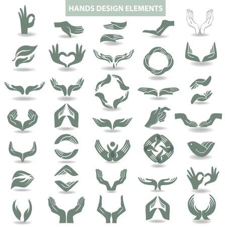 Ilustración de Hands design element - Imagen libre de derechos
