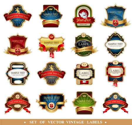 Illustration for Vector frames and ornamental labels - Royalty Free Image