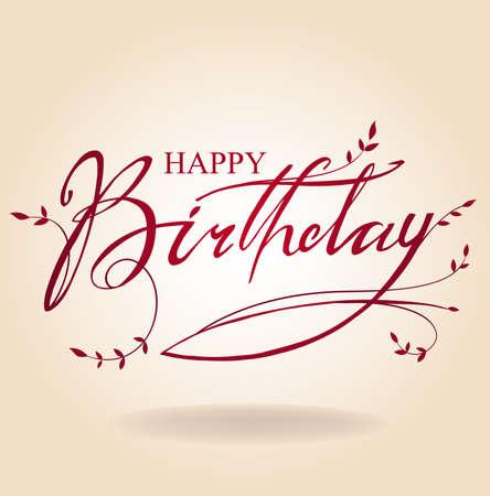 Illustration for Birthday inscription - Royalty Free Image