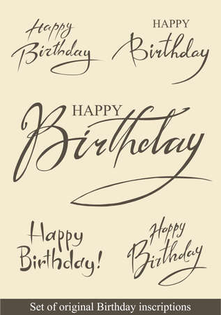 Birthday inscriptions