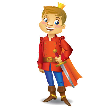 Illustration for Cartoon cute Prince - Royalty Free Image