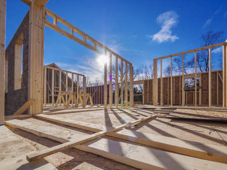 Photo pour New House Framing Construction - image libre de droit