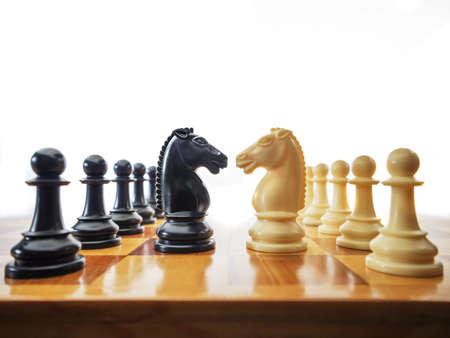 Foto de Chess conflict - Imagen libre de derechos