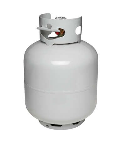 Photo pour Propane gas cylinder, isolated on white - image libre de droit